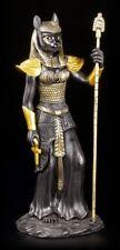 Egyptian Warrior Figurine - BASTET Black-Gold - Cat's Head Goddess Egypt Deco