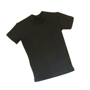 1:6 Scale Clothing Black Loose Style T-shirt for 12inch BBI DID Male Figures
