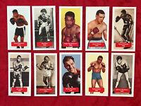 JOE LOUIS-MARCIANO-BRADDOCK BOXING CARDS-FULL 10 CARD SET-RARE U.K. ISSUE-MINT