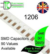 1206 SMD Capacitors 90 Values Available (10 Pack) *UK SELLER* Same day dispatch