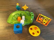 Vintage Fisher Price Little People Playground complete #2525 Swing Cube Go Round