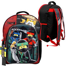 "Lego 16"" Black Pop Up Ninjago Cordura Backpack School Boys Kids Book Bag NEW"