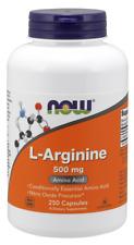 L-Arginine 500mg Now Foods 250 Caps