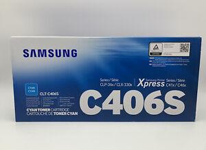 Original Samsung Toner Kartusche CLT-C406S Cyan CLP 360 365 CLX-3300