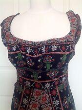 Cotton Blend Ethnic/Peasant Vintage Dresses for Women