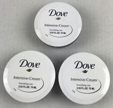 3-Pack Dove Intensive-Cream Nourishing Care Skin Care -  2.53 oz  per pot Travel