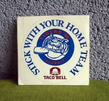 DETROIT TIGERS Stick With Home Team baseball sticker 1986 Michigan Taco Bell
