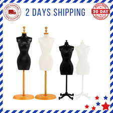 Female Mannequin Dress Form Manikin Body Base Stand Sewing Dress Black White New