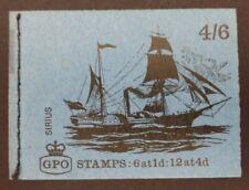 GB 1969 4/6 Booklet LP50 Sirius MNH
