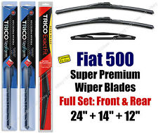 Top-of-the-line Wipers 3pk Front & Rear fit 2012+ Fiat 500 -  16240/140/12A