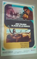 ED1 Original THE CLAN OF DEATH JACK PALANCE Movie Poster Argentina 1973