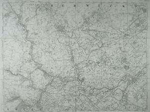 1904 Old OS Ordnance Survey Scotland Third Edition One Inch Map 25 Kelso Melrose
