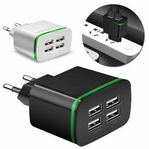 220V USB Mehrfachstecker 4 fach Hohe Qualität Anschluss Schnell Handy Ladegerät