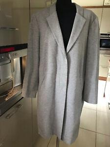 Madeleine,size 16,jersey collared jacket,grey, longline blazer,lovely condition