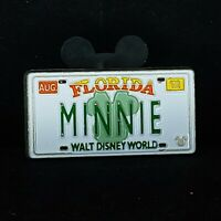 WDW Cast Lanyard Series - Minnie License Plate Disney Pin 51037