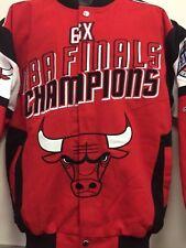824ba66eb2ff Chicago Bulls 6 Time NBA Championship Twill Jacket - Size Small Ship G-III
