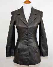 BEBE Women's P Small - 100% GLOVE LEATHER JACKET COAT - Fully Lined Super Soft