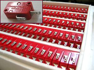 100x HONEYWELL Micro Switch, Limit Switch, 5A/380VAC, 10A/ 250VAC, 1/4A/ 250VDC