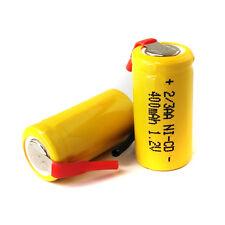 6 AA Ni-Cd Cd 1.2V 2/3AA 2/3 400mAh rechargeable battery Nickel Cadmium