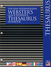 48pg Revised Webster's International Quick Reference THESAURUS Notebook Grade 2+