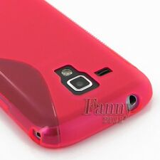 Pink  Gel Rubber TPU Skin Cover Case for Samsung Galaxy Trend Plus, S7580