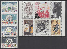 Sweden Sc 1732a, 1836a MNH. 1989 + 1990 Paintings Booklet Panes