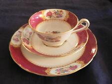 Grosvinor Ye  Old English  J&G   trio teacup saucer underplate  with bird flower