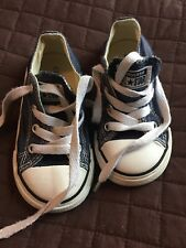 Converse Size 7 Unisex Baby Toddler Chuck Taylor Navy Blue Sneakers ALL STAR