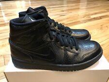 Nike Women's Air Jordan 1 Mid Black Snakeskin BQ6472 010 Size 10.5 NOBOXTOP