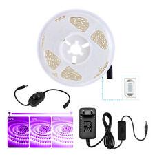 5m 10m UV Schwarzlicht LED Streifen 2835 Strip Band Drehdimmer An/Aus Trafo 12V