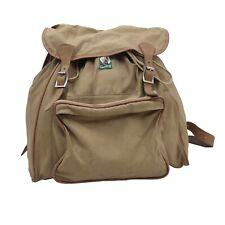 VINTAGE KAMARG Graz Kanvas Canvas Rucksack Backpack Retro Cool Wandern Khaki S