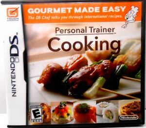 PERSONAL TRAINER, COOKING,  Nintendo DS Game COMPLETE w/ Manual, MINT