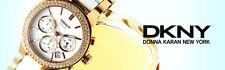 DKNY LADIES LUXURY 2 TONES CERAMIC AND GOLD IP WATCH NY8182