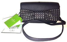 $598 Kate Spade Madison Ave Killian Drive Evi Studded Bow Clutch Chain Strap NWT