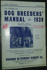 Vintage Cocker Spaniel Cover of The American Dog Breeders' Manual for 1939