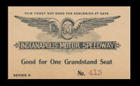 1909 Indianapolis Motor Speedway Race Ticket Reprint On 100 Year Old Paper *007