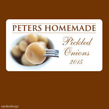 24x Pickled Onions Stickers Labels Homemade Hamper Garden Personalised- 364