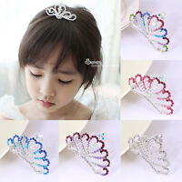 Korean Crystal Rhinestone Crown Hair Comb Kids Girls Princess Tiaras Headwear