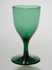 Georgian Antique Tulip Shape Bristol Green Wine Glass with Rough Pontil c1800