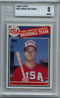 1985 Topps Mark McGwire BGS 8 NM-MT RC rookie USA #401