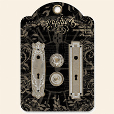 Graphic 45 Staples Shabby Chic Door Plates & Knobs