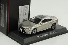 Lexus Rc 350 F Sport Sonic Titanium 1:43 Kyosho Diecast