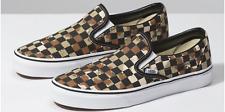 Vans Classic Slip-On Checkerboard Skate Shoes Size 11 CAMO DESERT/TRUE WHITE