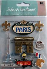 NEW EK SUCCESS JOLEES DIMENSIONAL STICKERS PARIS TRAVEL FRANCE 50-20447 611