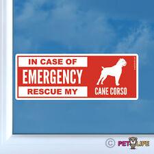 In Case of Emergency Rescue My Cane Corso Sticker Die Cut Vinyl - dog safety