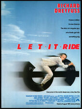 LET IT RIDE__Original 1989 Print AD_movie promo__RICHARD DREYFUSS__TERI GARR