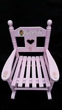 Children's wooden personalised rocking chair  hand painted - ANY NAME and poem