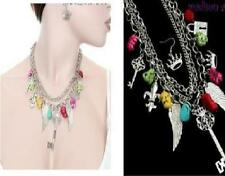 Fashion multi color, multi Charm Chunky Necklace & EARRING Set