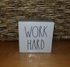 Rae Dunn BE BRAVE / WORK HARD Large Letter Desk Block Paperweight NEW