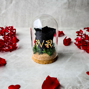 Enchanted Rose in a Dome, Glass Dome with Eternity Rose, Infinity Rose Gift